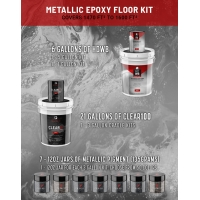 METALLIC EPOXY - 1470 to 1600 SQ FT KIT