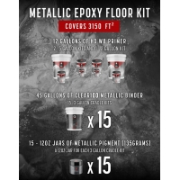 METALLIC EPOXY - 3150 FT² KIT