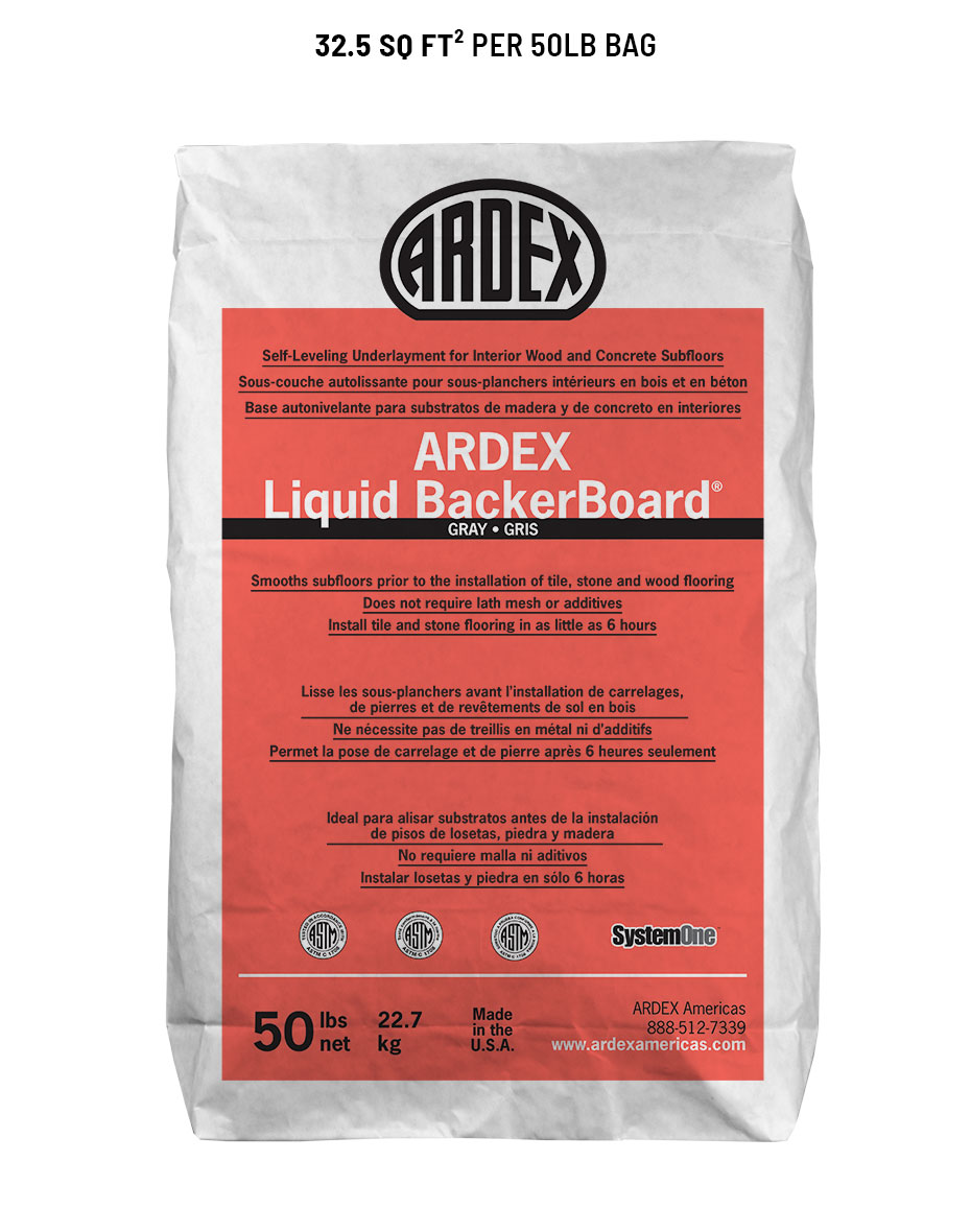 Ardex Liquid BackerBoard Self-Leveling Underlayment, 50 lb. Bag