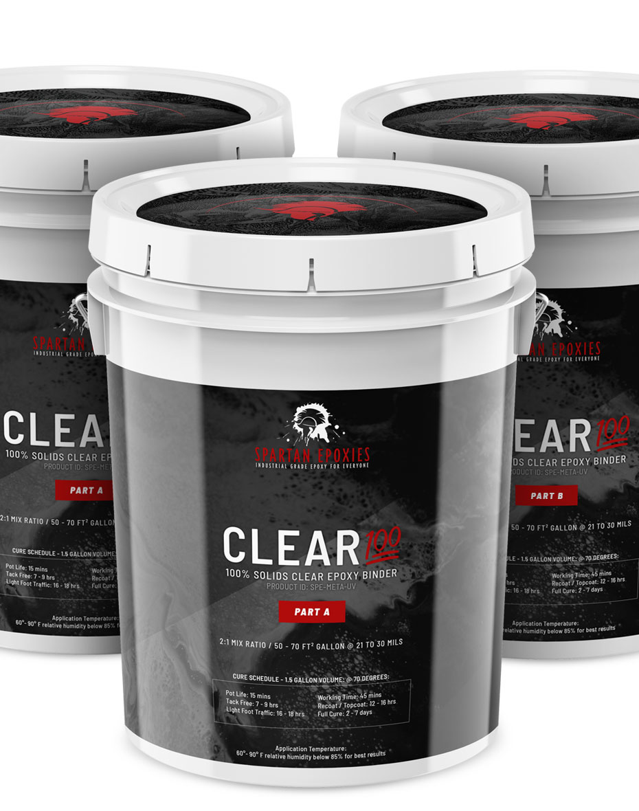 CLEAR100 - Midcoat / Binder - 15 Gallon Kit