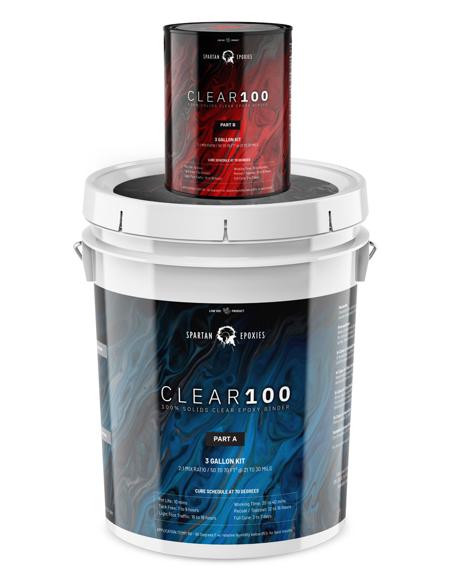CLEAR100 - Midcoat / Binder - 3 Gallon CRADLE / BATCH KIT