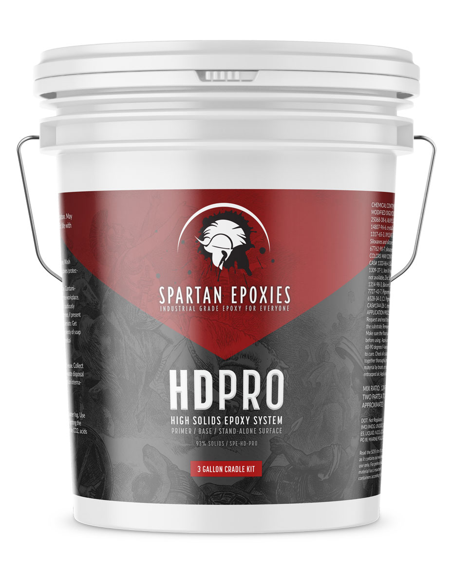 HDPRO - High Solids Primer / Base - 3 Gallon CRADLE KIT
