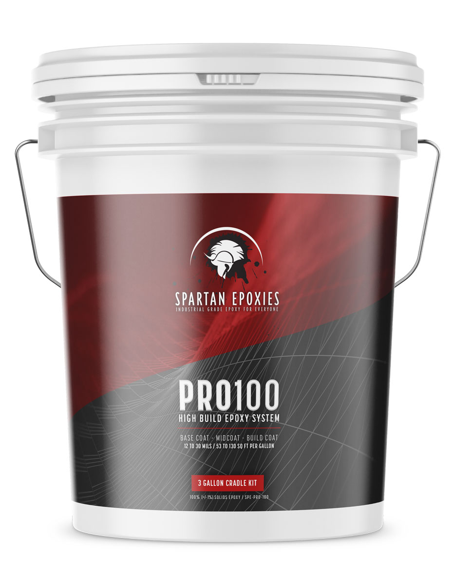 PRO100 - High Build 100% Epoxy - 3 Gallon BATCH / CRADLE KIT